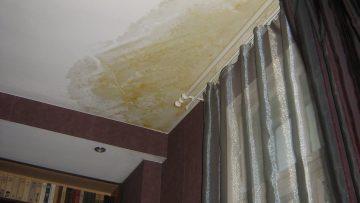Как избавиться от жёлтых пятен на потолке
