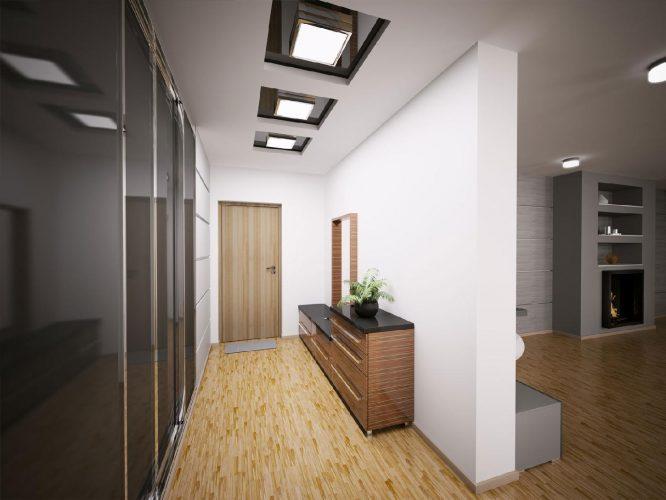 Яркий свет в прихожей с потолка