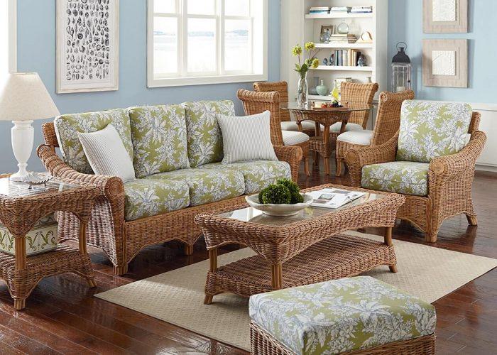 Плетёная мебель в гостиной
