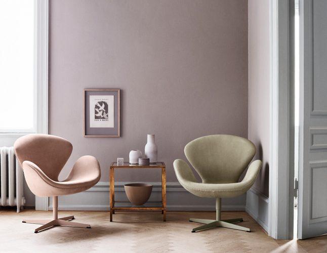 Кресло-лебедь в интерьере