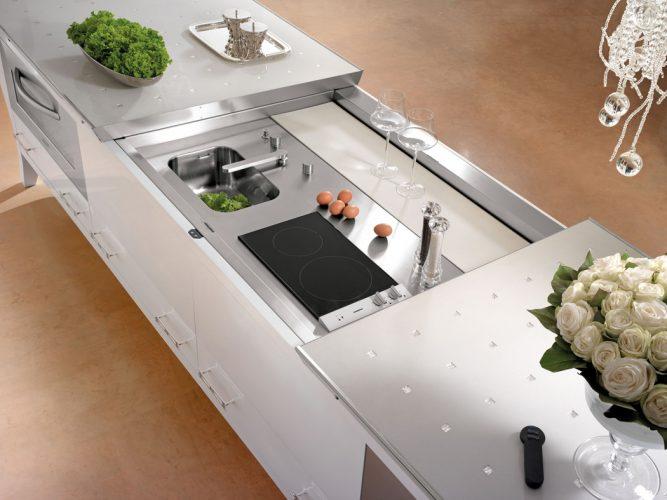 Раздвижная столешница кухонного острова
