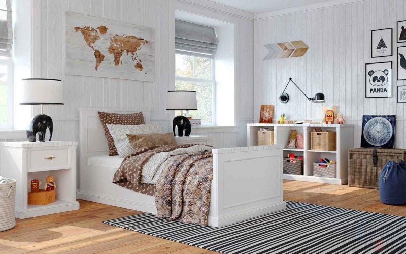 Слишком белая детская комната