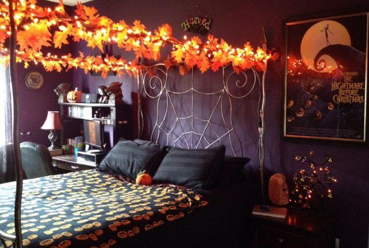Оформление спальни на Хэллоуин