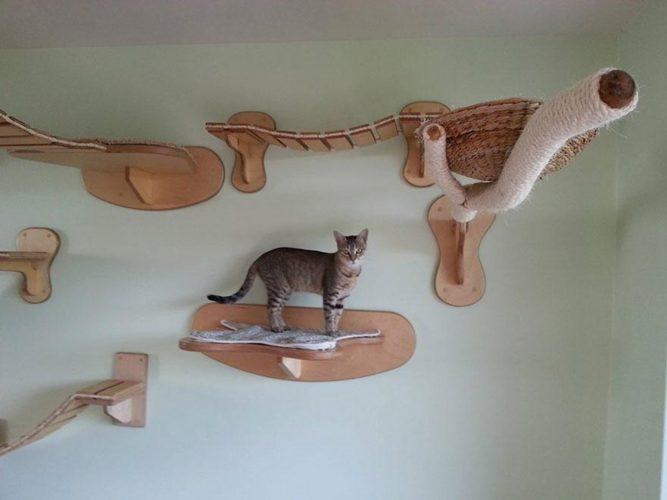Настенный игровой комплекс для кошек