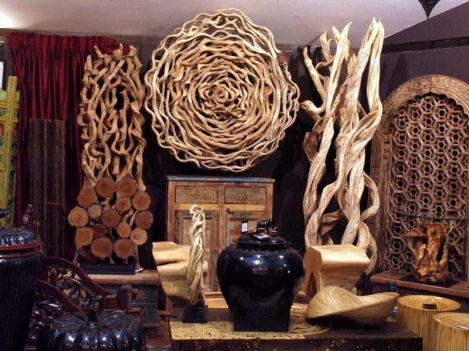 Части дерева для декора
