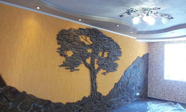 Дерево из искусственного камня