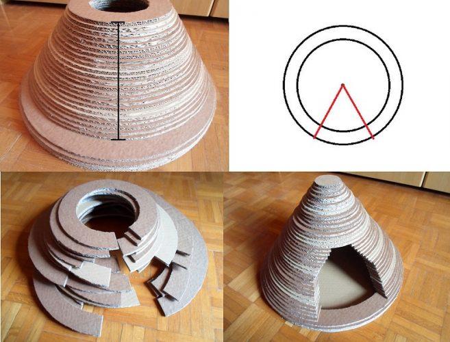 Этап изготовления домика из картона