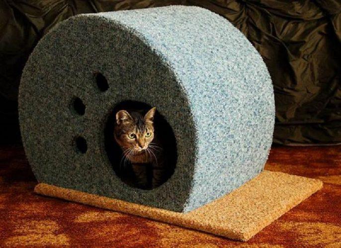 Этап изготовления домика из дерева