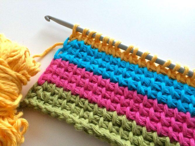 Техника тунисского вязания