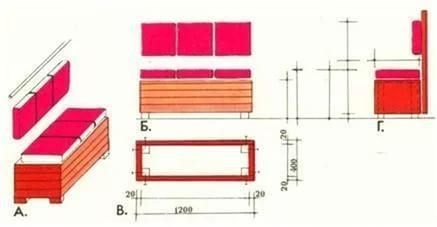 Изготовление простого диванчика