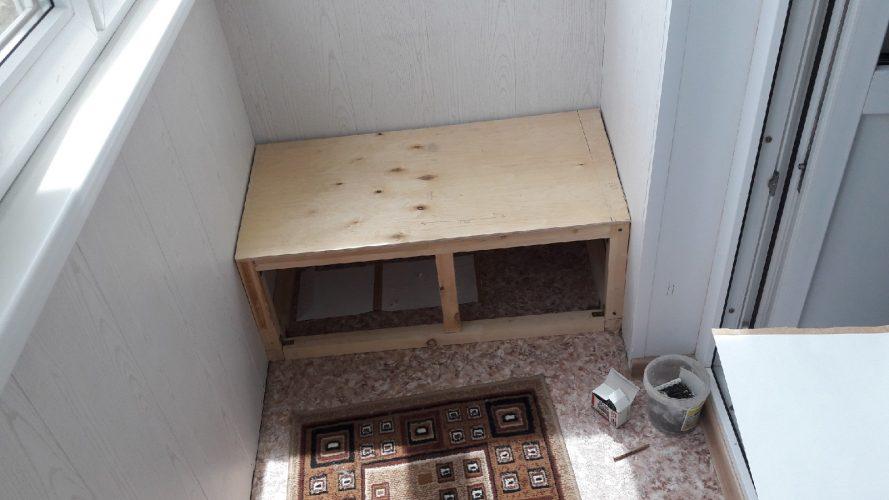 Изготовление дивана на балкон
