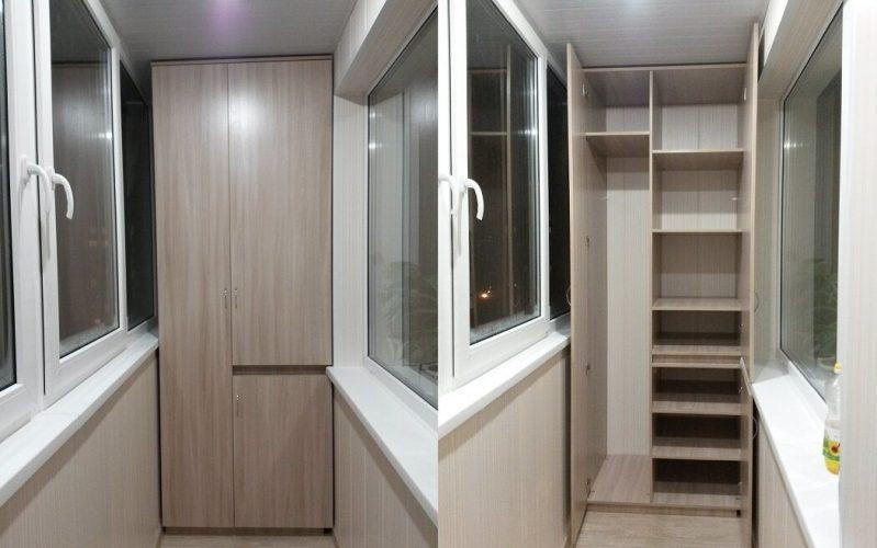 Шкаф с разрезанной дверцей