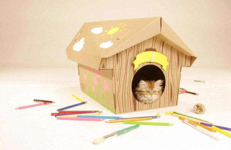 Изготовление домика для кошки