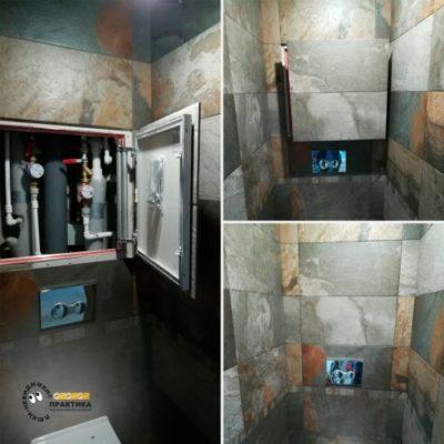 Практичность использования ревизионных люков под плитку