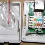 Розетка для интернет кабеля, схема установки по цветам