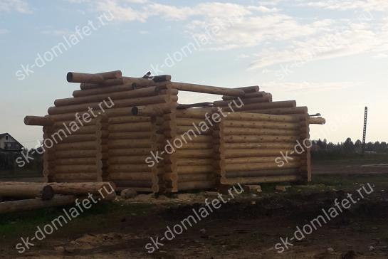 Преимущества строительства домов из лафета
