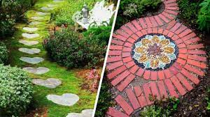 Устройство дорожек в саду с помощью натуральных материалов