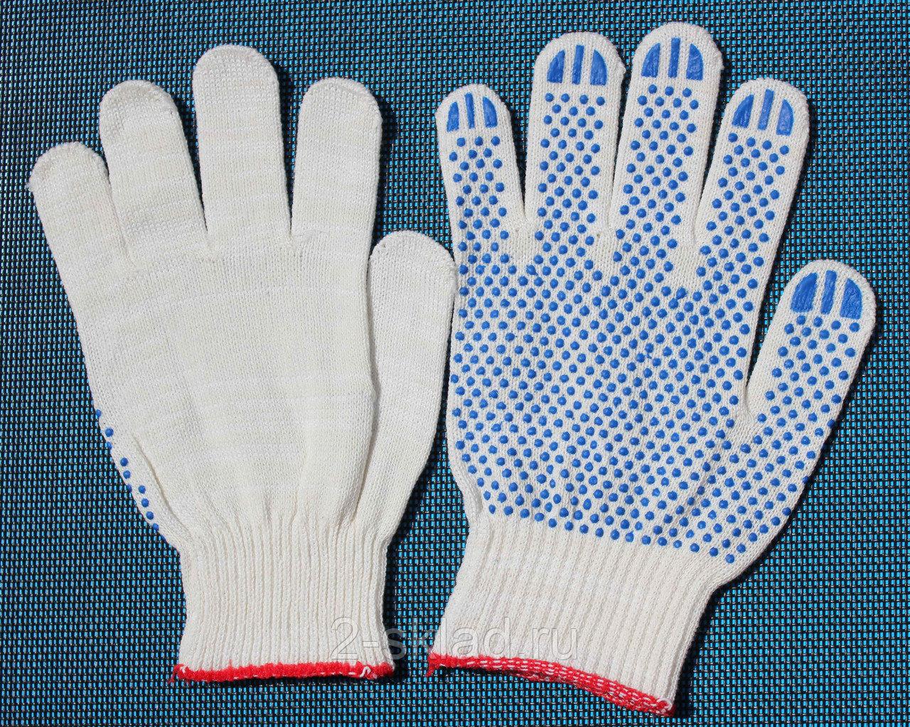 Хлопчатобумажные перчатки с напылением ПВХ лучшего качества
